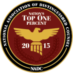 National Association of Distinguished Counsel – Nation's top one percent